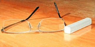 Eyeglasses i kreda obrazy royalty free