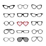 Eyeglasses icon collection Royalty Free Stock Photos