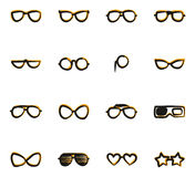 Eyeglasses Icons Freehand 2 Color Stock Photography
