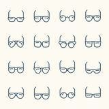 Eyeglasses icons Royalty Free Stock Images