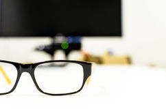 Eyeglasses. On isolated white background Stock Image