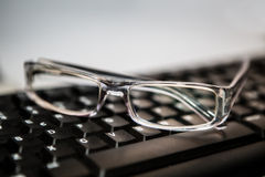 Eyeglasses with keyboard Stock Image