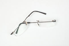Eyeglasses with lightweight frame broken Royalty Free Stock Photography