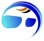 Eyeglasses logo Royalty Free Stock Images