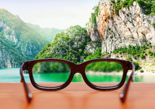 Eyeglasses in nature Stock Image