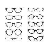 Eyeglasses Obramiają wektoru set Obraz Stock
