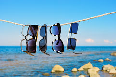 Eyeglasses on a rope Royalty Free Stock Images