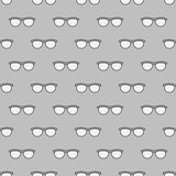 Eyeglasses seamless gray pattern Royalty Free Stock Images
