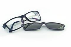 Eyeglasses с sunblock Стоковое Изображение RF