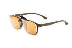 Eyeglasses with sunglass isolated Stock Image