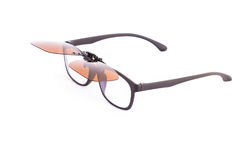 Eyeglasses with sunglass isolated Royalty Free Stock Photos