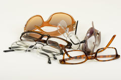 Eyeglasses And Sunglasses Royalty Free Stock Photography