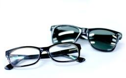 Eyeglasses and sunglasses Stock Photos