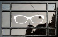 Eyeglasses symbol. On a window in Amsterdam Stock Photo