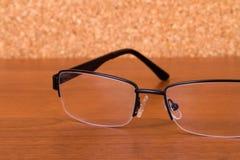 Eyeglasses on Table Stock Image
