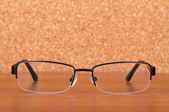 Eyeglasses on Table Stock Photos