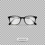 Eyeglasses. Vector illustration. Geek glasses isolated on a white background. Realistic icon eyeglasses. stock illustration
