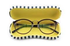 Eyeglasses, vintage nerd style. royalty free stock photos