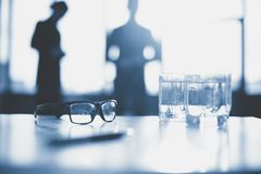 Eyeglasses and water Royalty Free Stock Photos