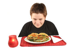 Eyeing tacos Royalty Free Stock Images