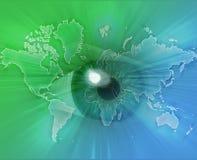 Eyeing the world Stock Image
