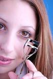 Eyelash. Teen curling eyelashes Stock Photography