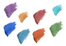 Eyelash color swatches Stock Photos