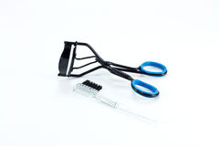 Eyelash curler. Picture of isolated eyelash curler Royalty Free Stock Images