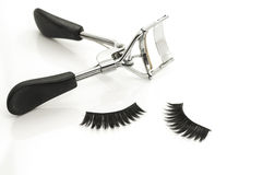 Eyelash curler and false eyelashes Royalty Free Stock Image