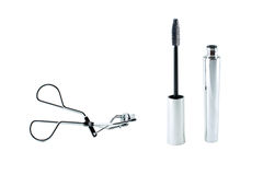 Eyelash curler and mascara Royalty Free Stock Photo