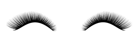 Eyelash extension. A beautiful make-up. Thick cilia. Mascara for volume and length. Stock Images