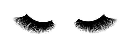 Eyelash extension. A beautiful make-up. Thick fuzzy cilia. Mascara for volume and length. False Stock Photo