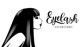 Eyelash extension. Vector illustration for beauty salon, lash extensions maker Royalty Free Stock Photos