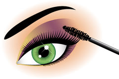 Eyelash mascara close up Royalty Free Stock Photos