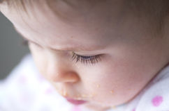 Eyelash of a messy little girl Royalty Free Stock Images