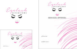 Eyelash modern Logo, Business Card  2 x 3.5, Flyer 4.25 x 5.5 Royalty Free Stock Photography