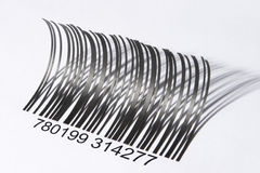 Eyelash shaped barcode Royalty Free Stock Photo