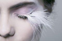 eyelashes πολύ γυναίκα στοκ φωτογραφία με δικαίωμα ελεύθερης χρήσης
