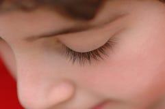 Eyelashes. The eyelashes of a 8 year old boy Royalty Free Stock Photography