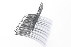 Eyelashes barcode from side Stock Photos