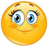 Eyelashes emoticon vector illustration