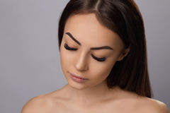 Eyelashes extensions. Fake Eyelashes. Royalty Free Stock Images