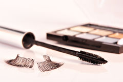 Eyelashes and Mascara Royalty Free Stock Photography