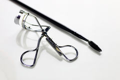Eyelashes tools on white Stock Image