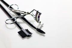 Eyelashes tools on white Royalty Free Stock Images