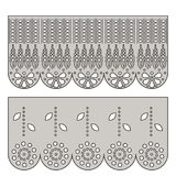 Eyelet lace decorative ornament for border of fabric. royalty free illustration