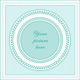 Eyelet Lace Frame, Seamless Background vector illustration