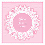 Eyelet Lace Frame, Seamless Background Stock Photos