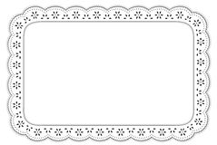Eyelet Lace Place Mat, Black & White  Stock Images