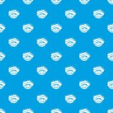 Eyelid elevation pattern vector seamless blue. Repeat for any use vector illustration